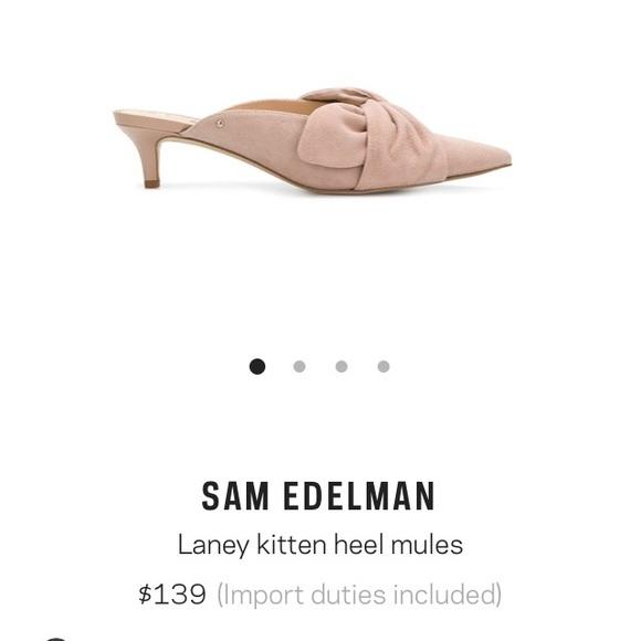 0967be4e53 Sam Edelman Shoes | Laney Kitten Heel Mules | Poshmark